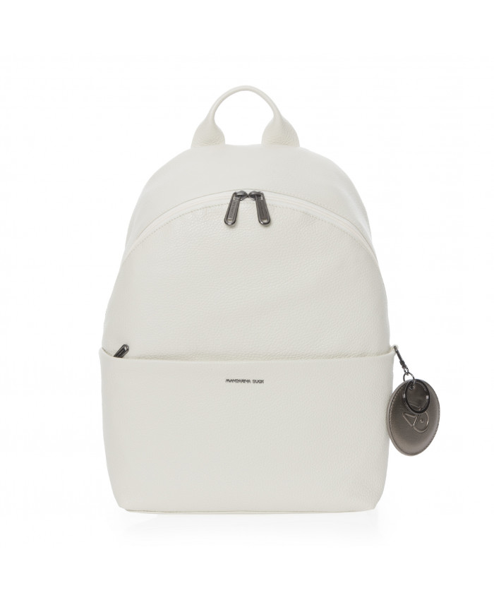 Kuprinė Mandarina Duck: MELLOW LEATHER BACKPACK / OFF WHITE