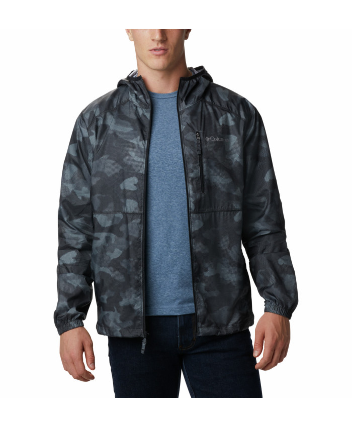 Vyriška striukė Columbia: Flash Forward Windbreaker Print -Black Spotted Camo