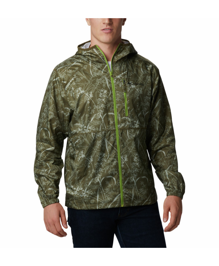 Vyriška striukė Columbia: Flash Forward Windbreaker Print -New Olive Oregon Wonders