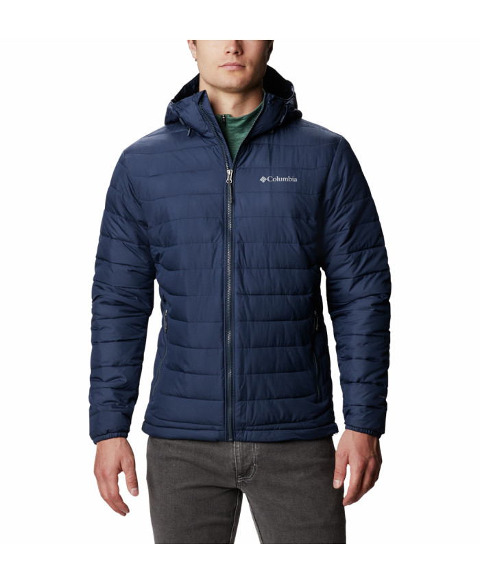 Vyriška striukė Columbia: Powder Lite Hooded Jkt-Collegiate Navy