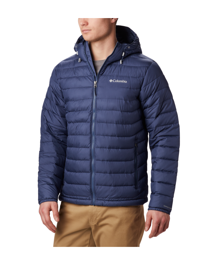 Vyriška striukė Columbia: Powder Lite Hooded Jkt-Dark Mountain