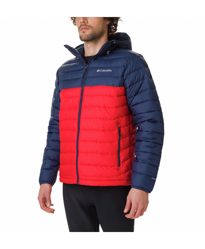 Vyriška striukė Columbia: Powder Lite Hooded Jkt-Mountain Red