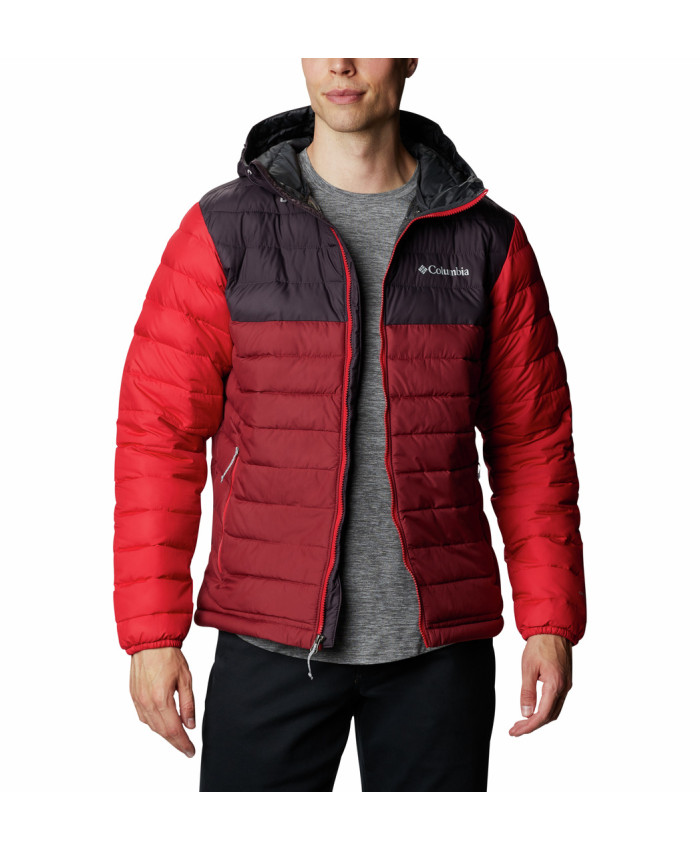 Vyriška striukė Columbia: Powder Lite Hooded Jkt-Red Jasper, Dar