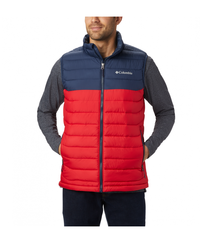 Vyriška liemenė Columbia: M Powder Lite Vest Mountain Red, Collegiate Navy