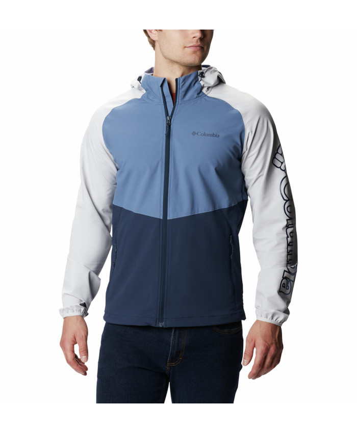 Vyriška softshell striukė Columbia: Panther Creek Jacket -Collegiate Navy, Bluestone, Nimbus Grey