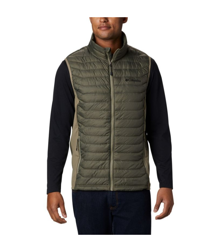 Vyriška liemenė Columbia: M Powder Pass Vest-New Olive Heath