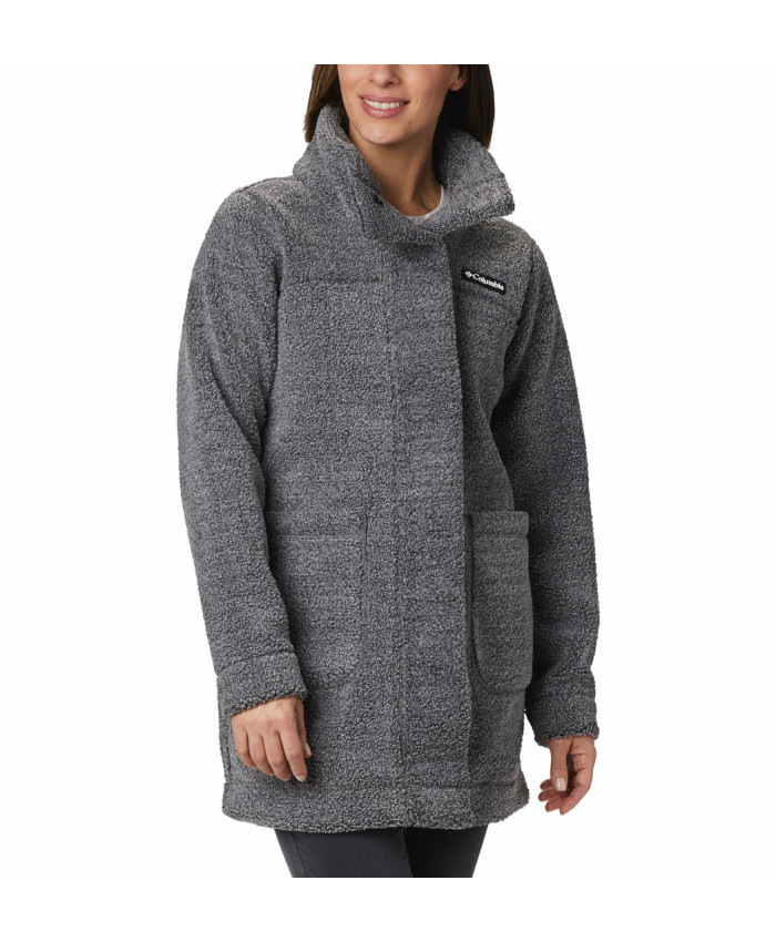 Prailgintas moteriškas džemperis Columbia: Panorama Long Jacket-Charcoal Heathe