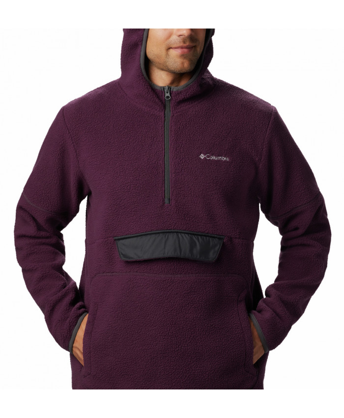 Vyriškas džemperis Columbia: Rugged Ridge Sherpa Pull-Black Cherry, S