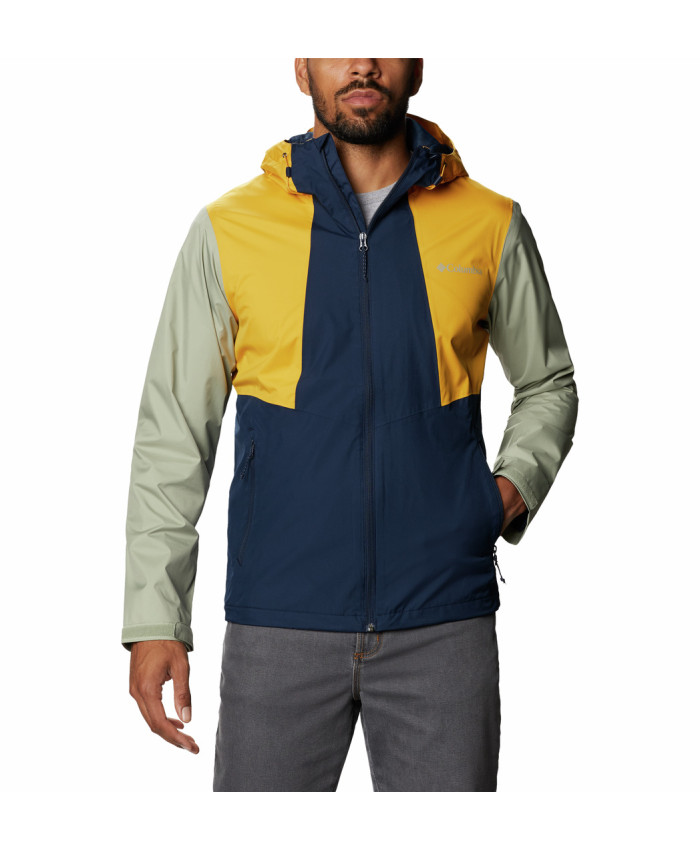 Vyriška neperšlampama striukė Columbia: Inner Limits II Jacket -Collegiate Navy, Bright Gold, Safari