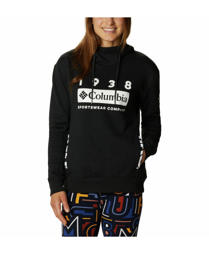 Moteriškas džemperis Columbia: Columbia Lodge Hoodie-Black, White Ty