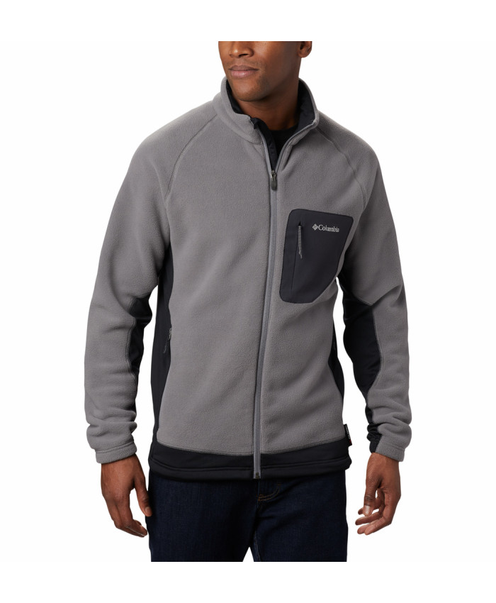Vyriškas džemperis Columbia: M Polar Powder Full Zip-City Grey, Blac