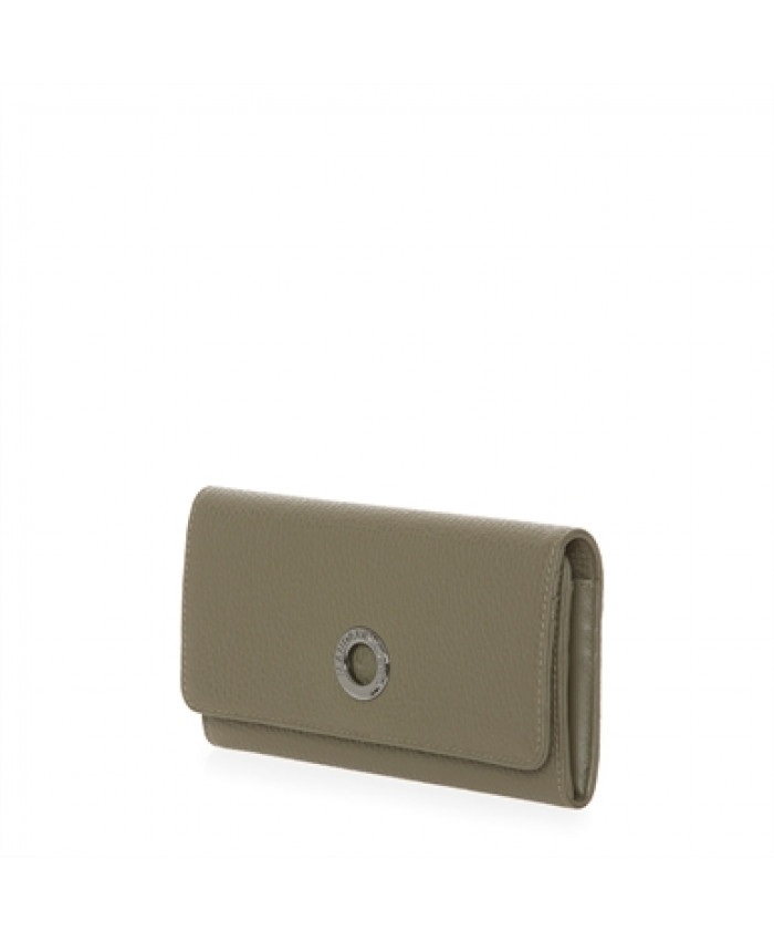 Piniginė Mandarina Duck: MELLOW LEATHER WALLET / MILITARY OLIVE P10FZP52 MILITARY OLIVE 10K
